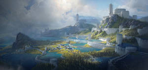 Sci-fi castle