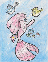 Silly Blowfishes with Giggling Pinkamena II by FascismNotIncluded