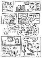 Stick Cats no. 1 by nickmarino