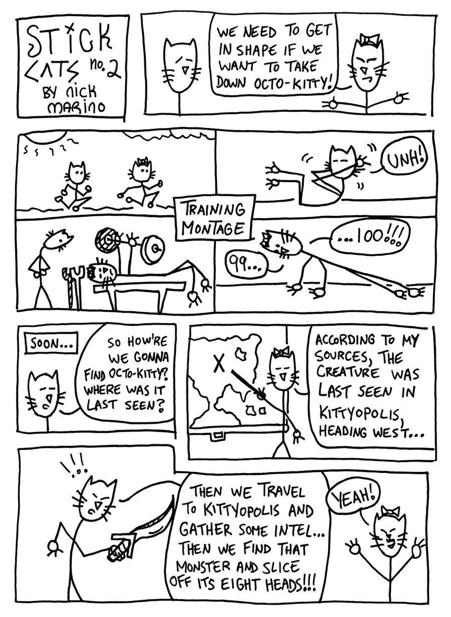 Stick Cats no. 2