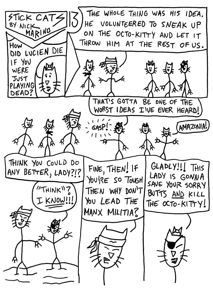 Stick Cats no. 13