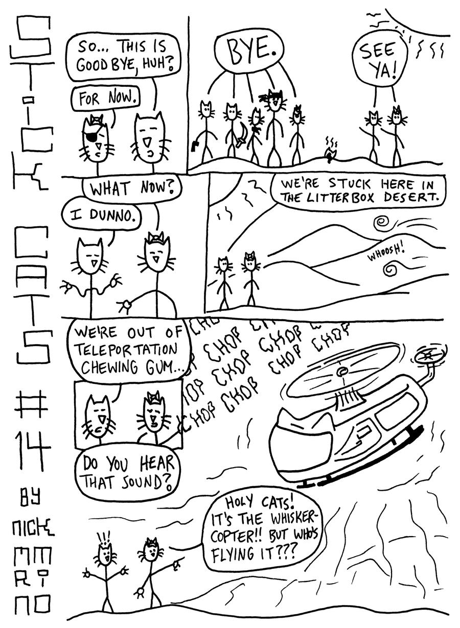 Stick Cats no. 14 by nickmarino