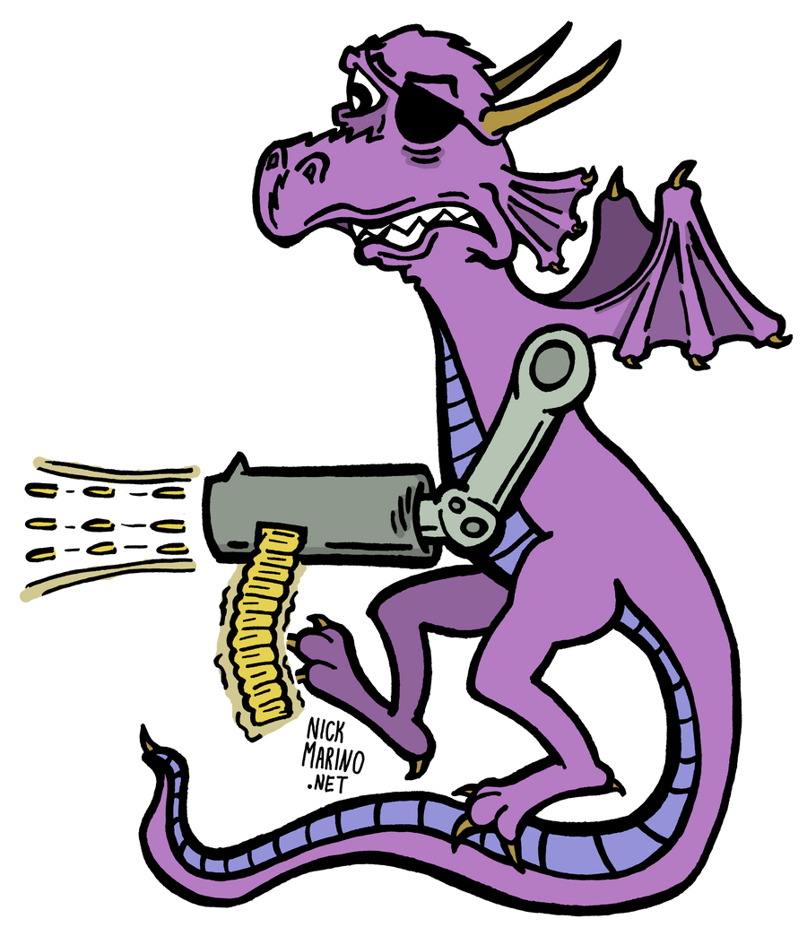 Dragon with a Machine Gun Arm