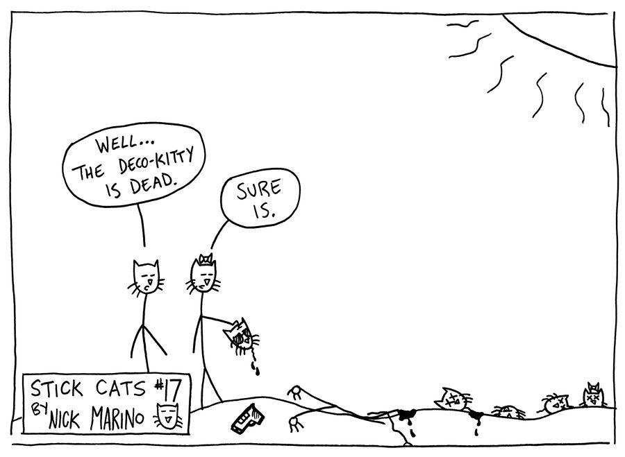Stick Cats no. 17 by nickmarino