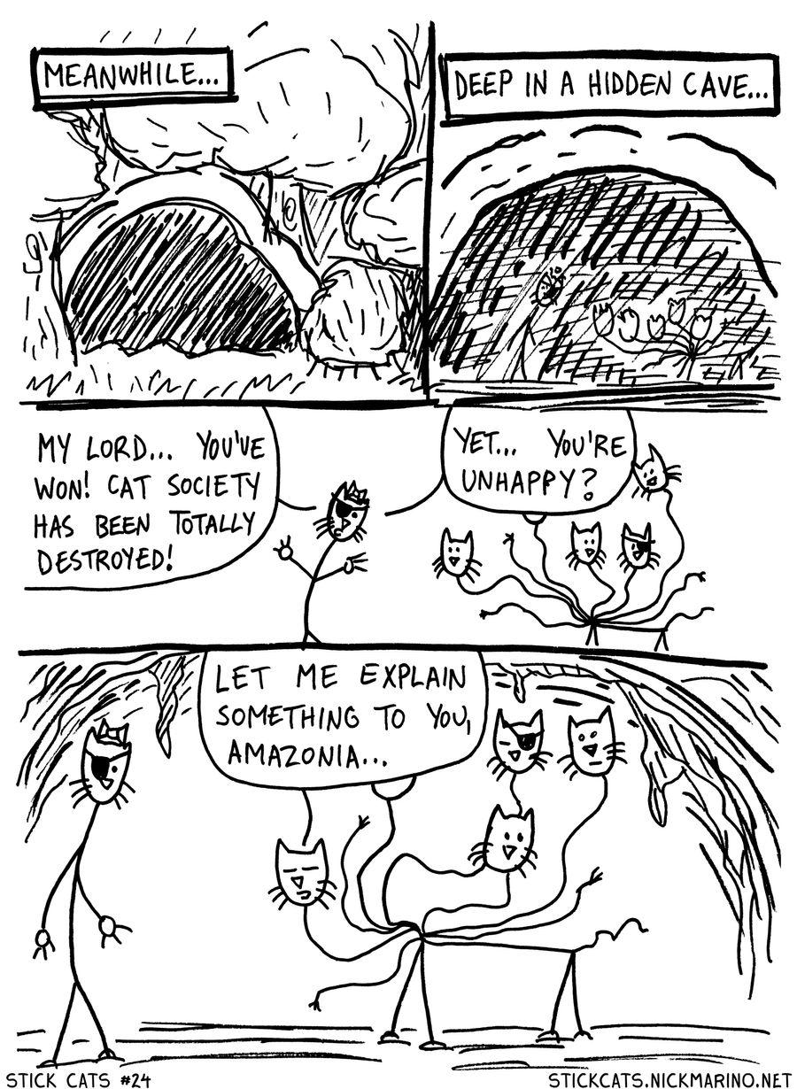 Stick Cats no. 24