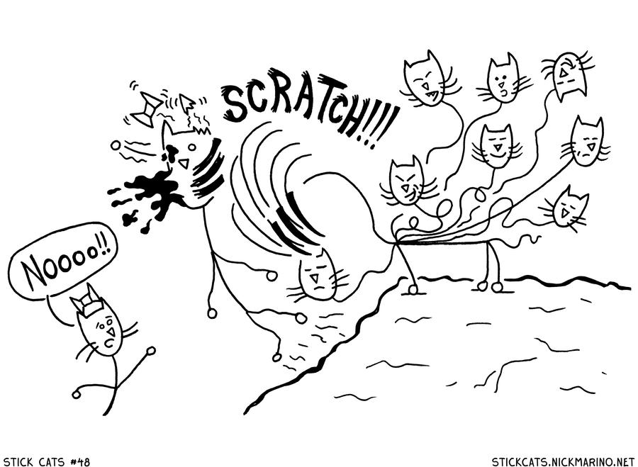 Stick Cats no. 48 by nickmarino