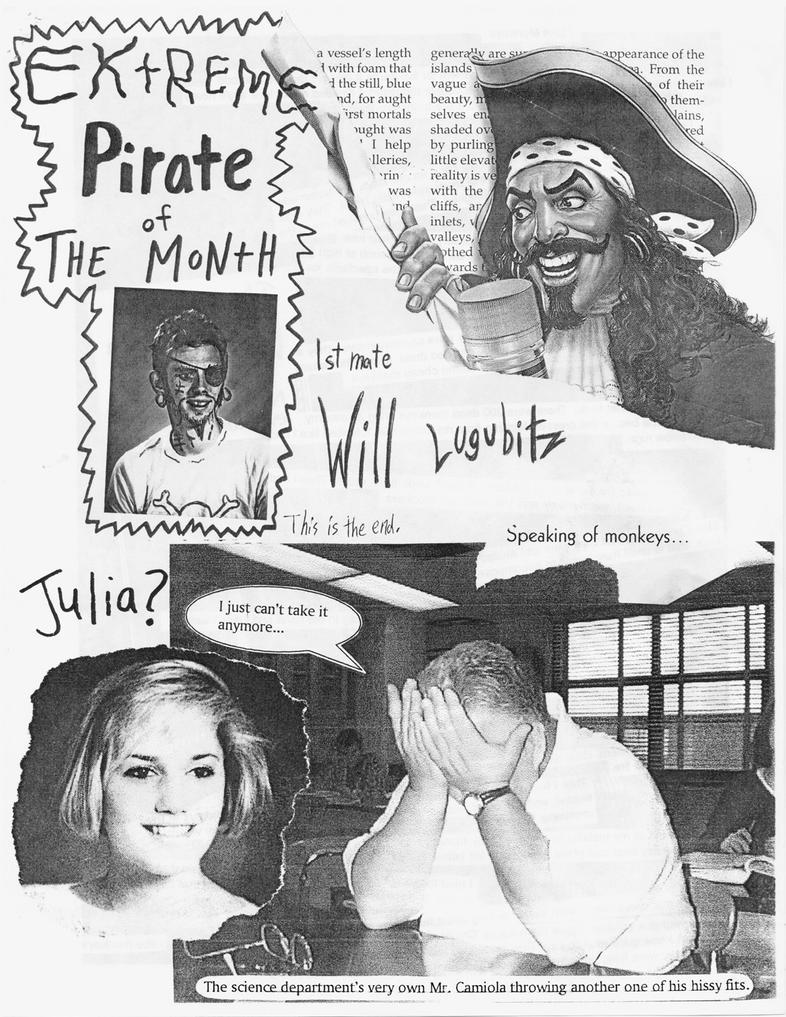 Extreme Pirate of da Month: 1st Mate Will Lugubitz by nickmarino