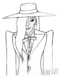 Agent Purple sketch by InstantCoffeeBarista