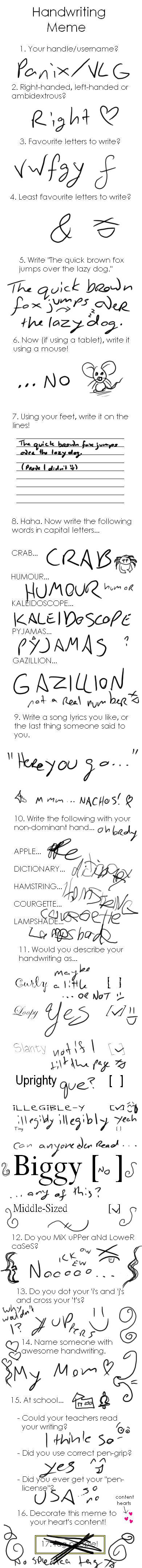 Handwriting Meme by InstantCoffeeBarista