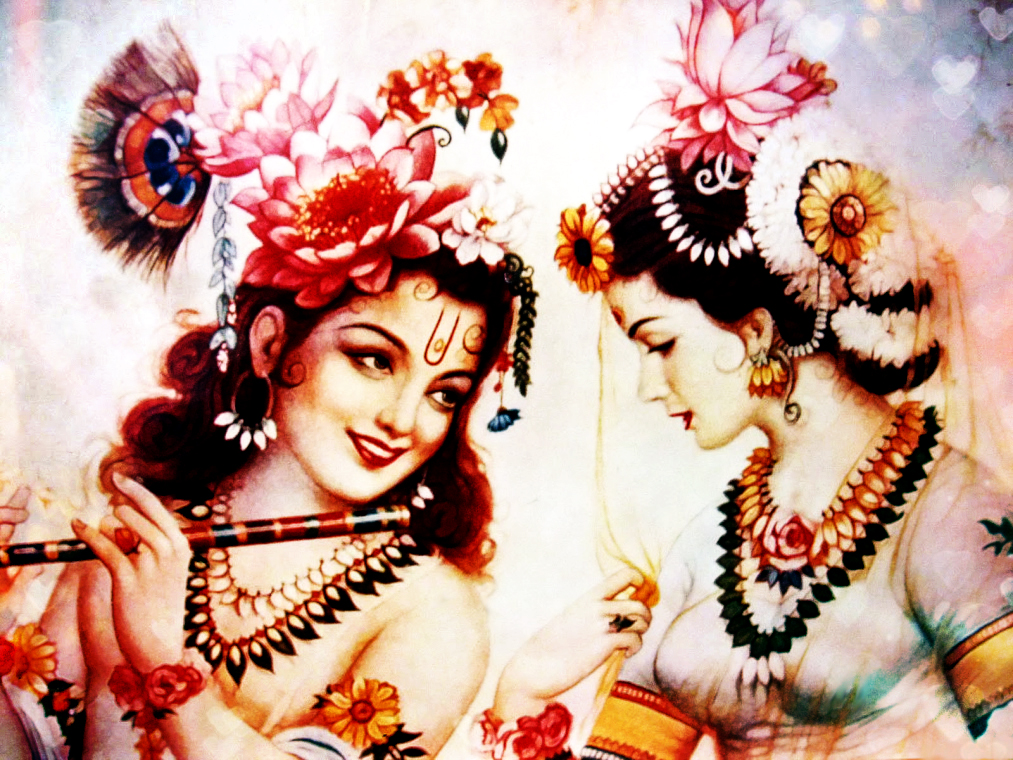 RADHA KRISHNA by VISHN... Simple Paintings Of Lord Krishna
