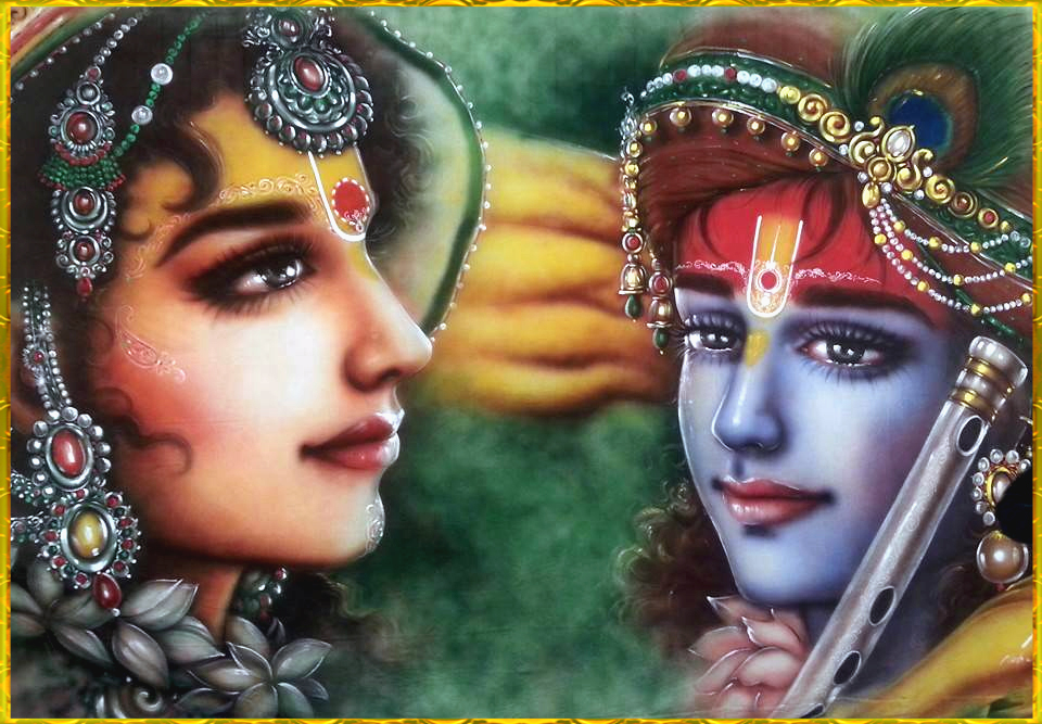 shri krishna radha hd wallpaper