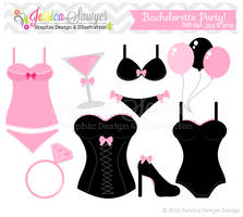 Bachelorette Party Clip Art by JessicaSawyerDesign