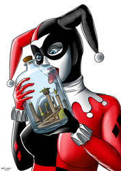 Request: Harley Quinn and the City of Kandor by Spuski