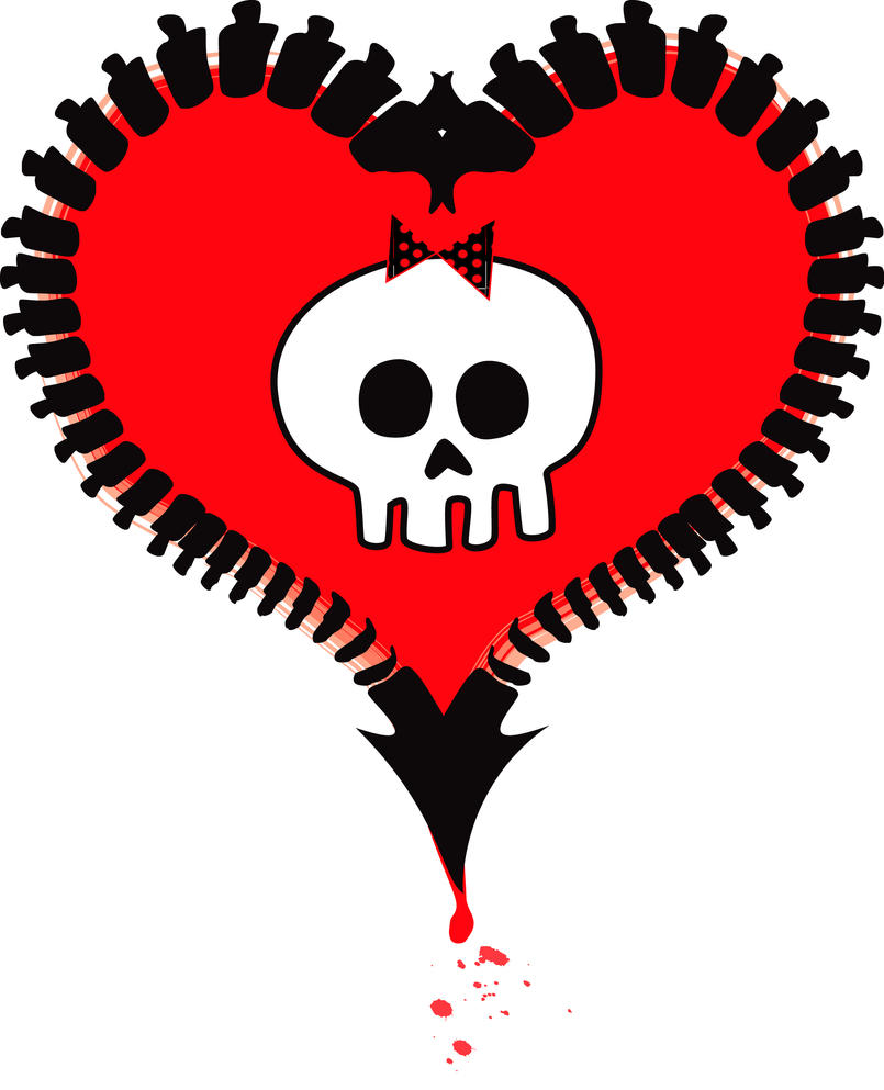 Alkaline trio heart tattoo by demonfury