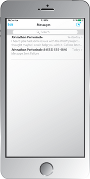 iPhone 5S (Screen On | Messages)