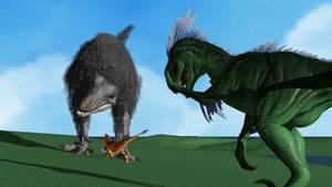 A Raptor Cannot Take On a Yutyrannus by Peekofwar