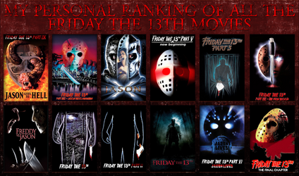 My Personal Ranking of the Friday the 13th Movies