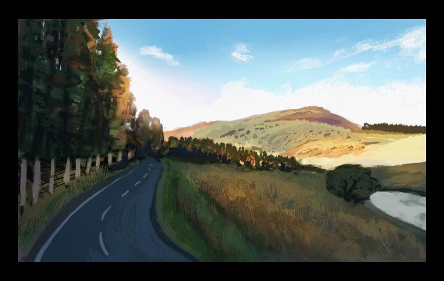 Scotland plein air by caiobuca