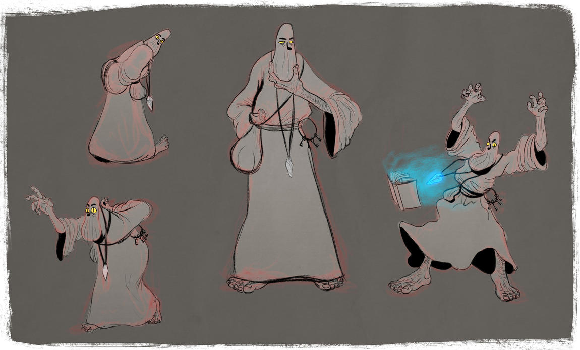 Mage Sketches by caiobuca