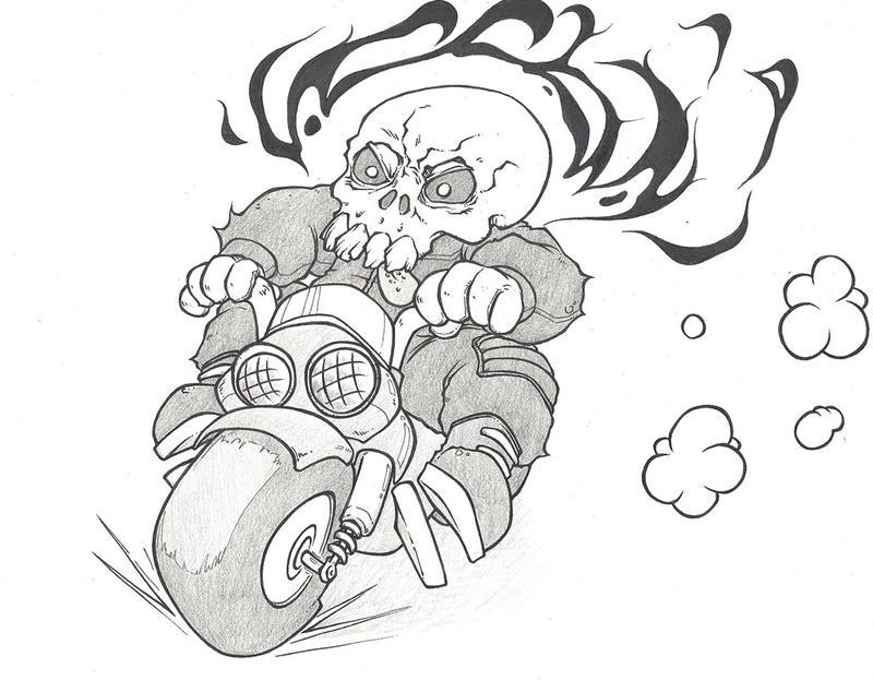 DnD Paris (05/07/2017) - Ghost Rider by ShinKoala
