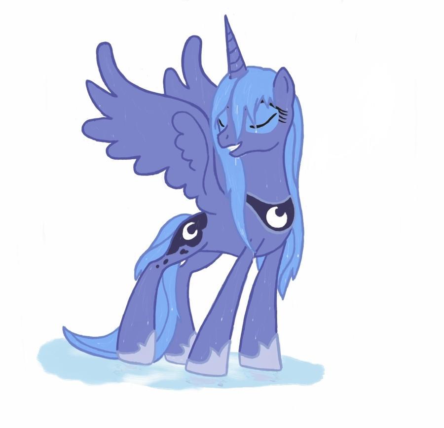 Wet Princess Luna by Groovebird