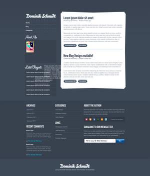 Dominik Schmidt Blog Design