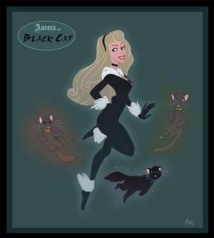 Aurora as Black Cat