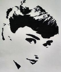 Audrey Hepburn Cross Stitch