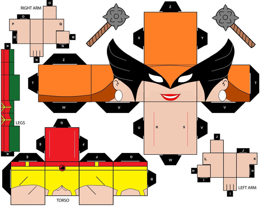 CubeeCraft DC Super Heroes Hawkgirl by handita2006