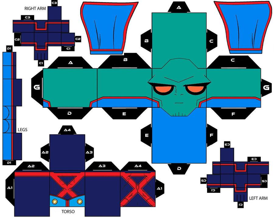 DeviantArt: More Like Cubee Craft Martian Manhunter New Custom by ...