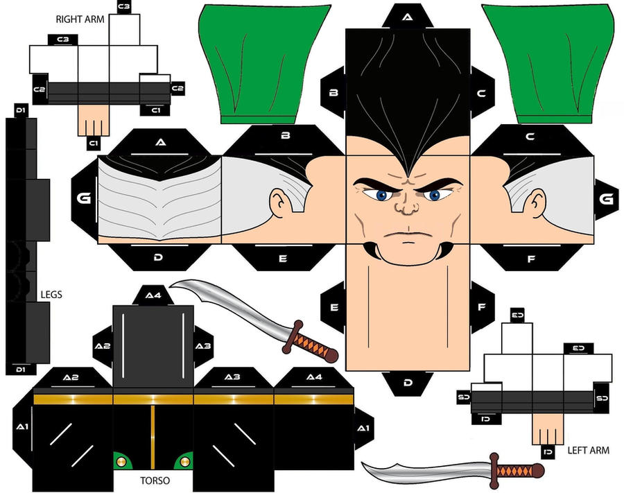 CubeeCraft Ra's Al Ghul DC Super Heroes by handita2006