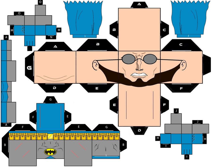 wallpaper craft batman: Cubee Craft Hugo Strange Is Batman DC Super Heroes By