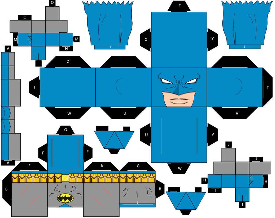 wallpaper craft batman: Cubee Craft Batman Classic DC Super Heroes By Handita2006