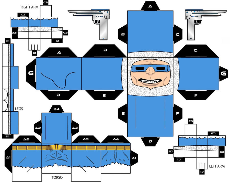 Cubeecraft Captain Cold DC Super Heroes by handita2006