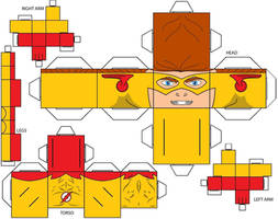 Cubee Craft Kid Flash DC Super Heroes by handita2006