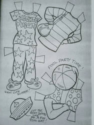 Punky Brewster paper doll clothes