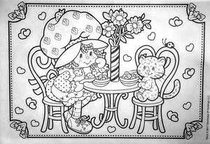 Strawberry Shortcake AND Custard Kitty Coloring P