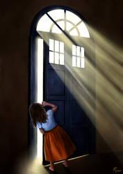 Behind the Big Blue Door