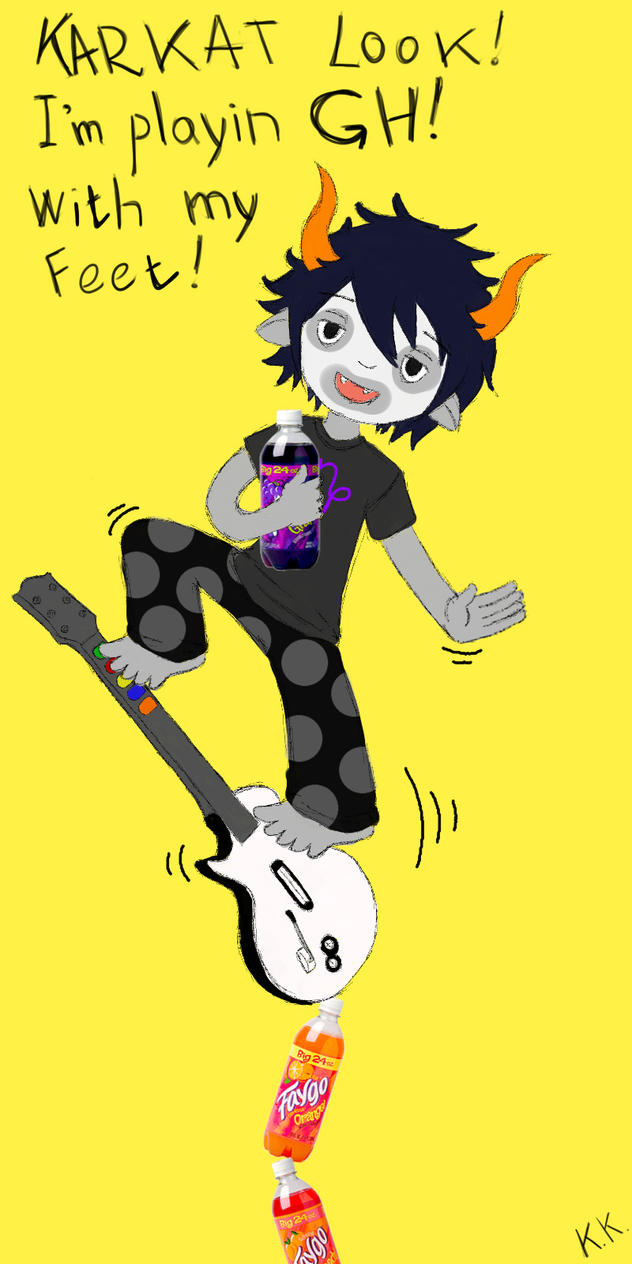 Gamzee Makara and guitar hero by Dead-BatterGamzee Dead