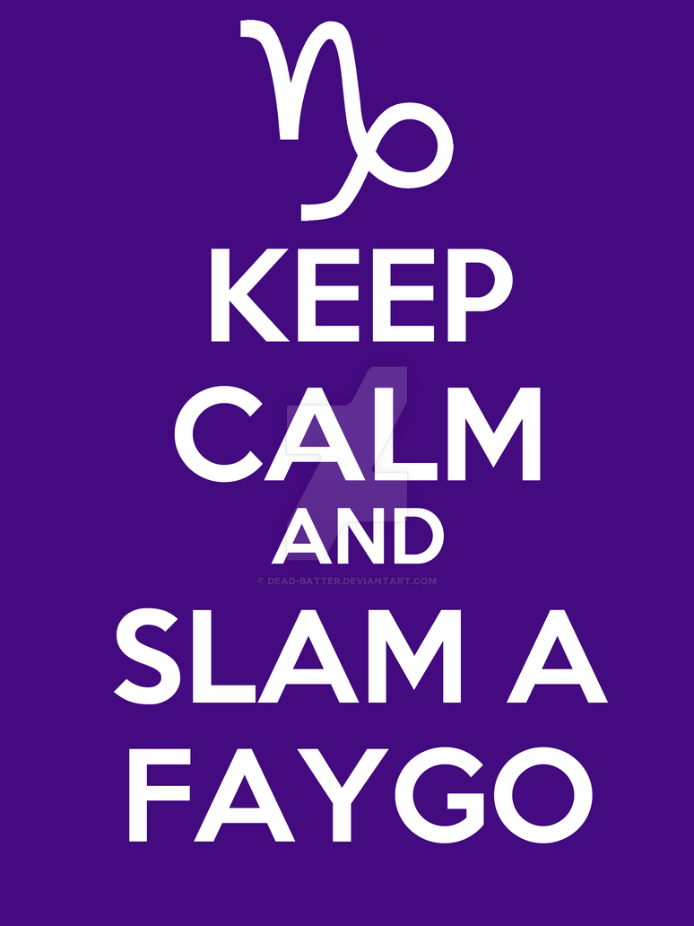 Gamzee - keep calm and slam a faygo HQ-remake by Dead-Batter