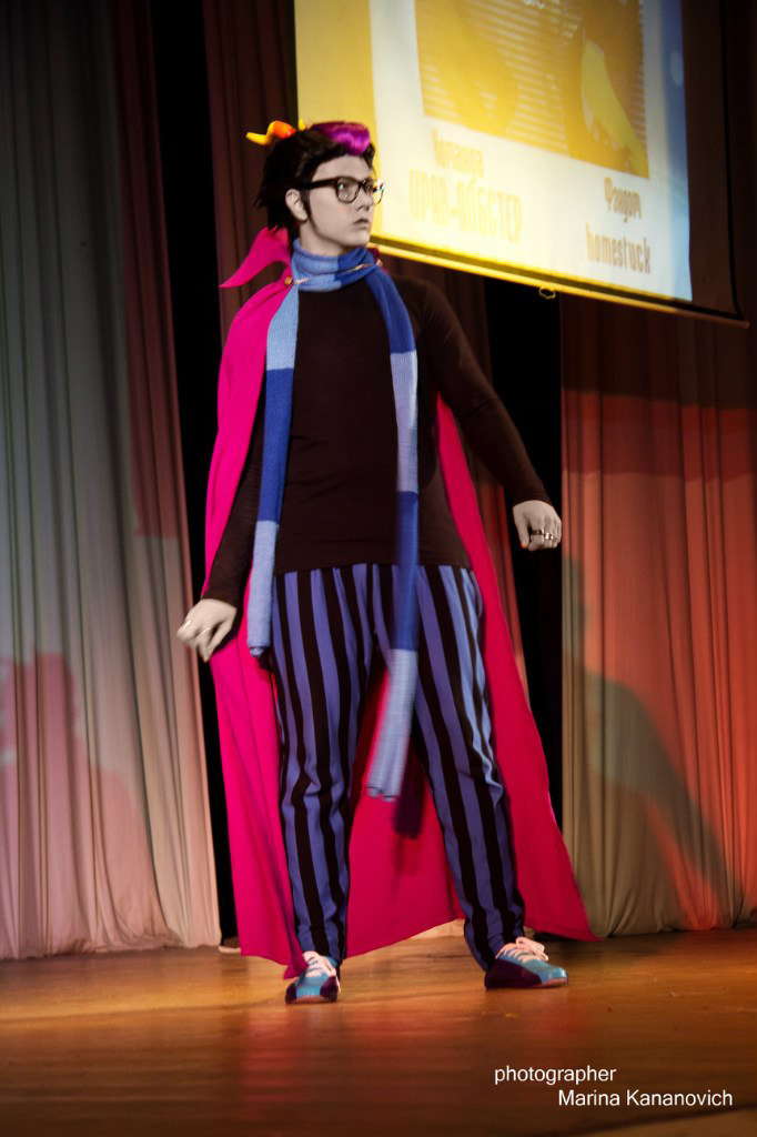 Eridan Ampora cosplay - on the stage by Dead-Batter
