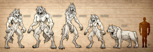 Lycanthrope Club Variant Morph Chart by Heliotroph
