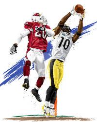 Super Bowl MVP Santonio Holmes by DavidEWilkinson