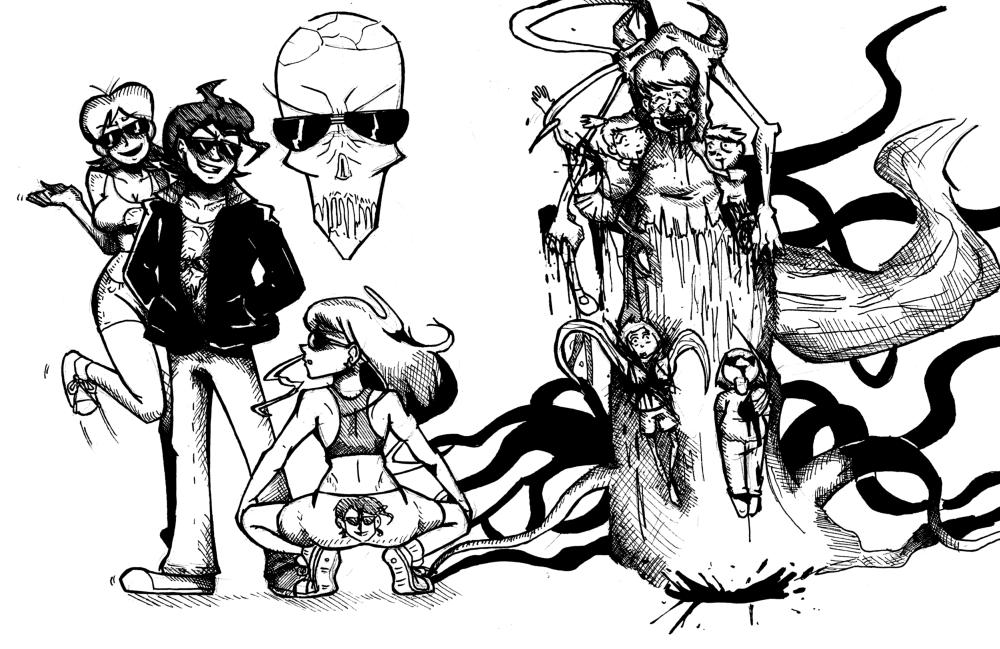 Two Villains-Kingfish Sketches by Aksika