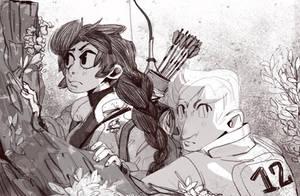 Katniss and Peeta by Siarina