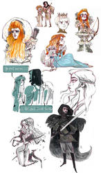 GOT:Doodles01 by Siarina