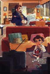 Hopper's family daily life