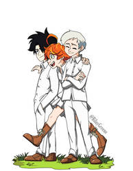 Norman, Emma and Ray - The promised neverland by RilayGreene