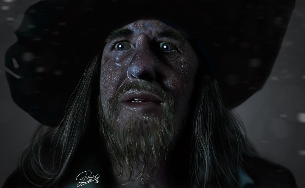 Capitan Barbossa (Fan-Art) [Digital Painting] by petro96
