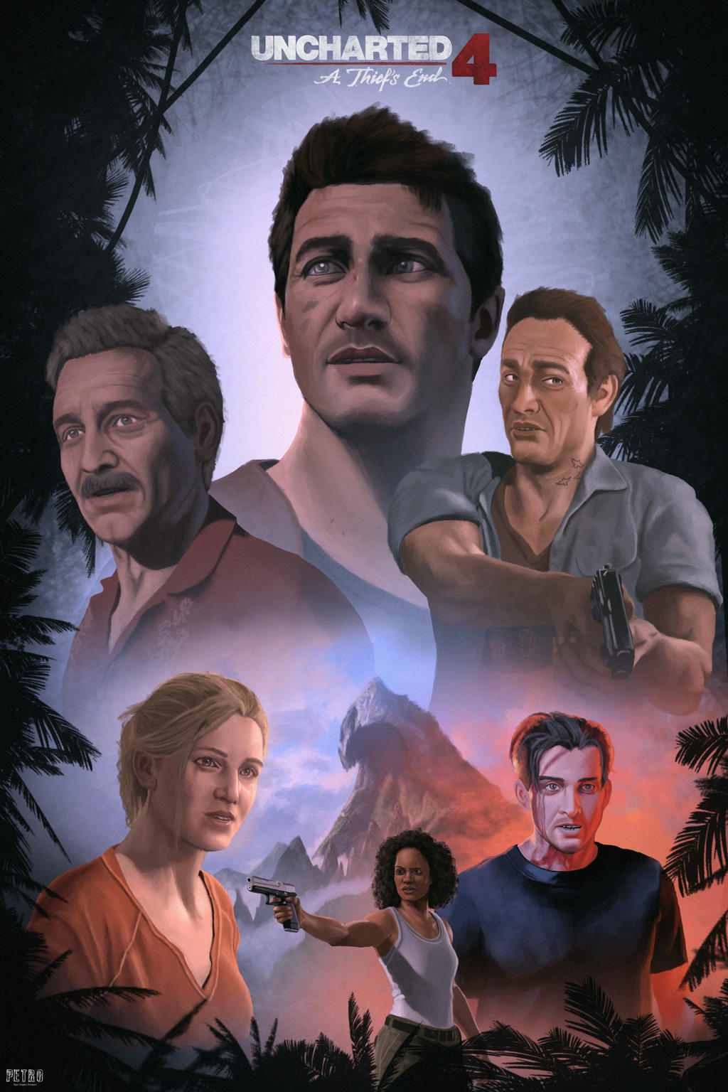 Uncharted 4 Poster Fan Art Digital Painting By Petro96 On